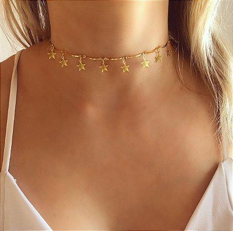 Chocker Mil Estrelas Dourado