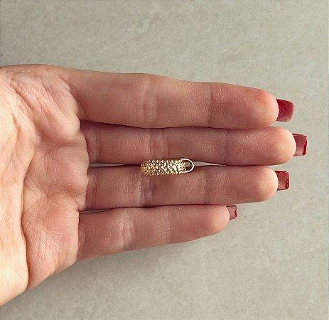 Piercing de Pressão Mini Bolinhas Dourado