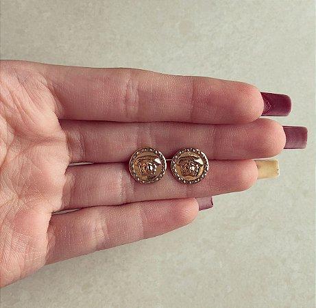 Brinco Redondo Medusa Pequeno Dourado