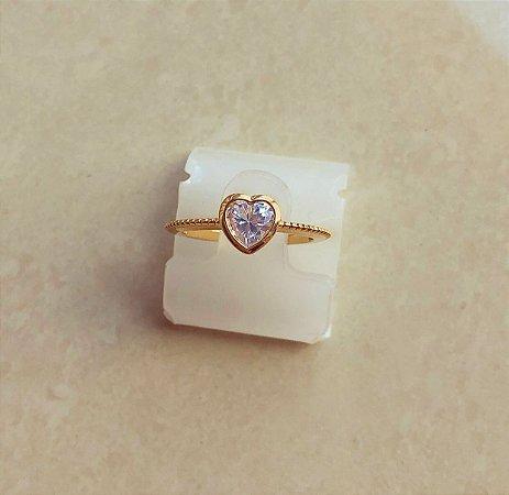 Anel Salinas Coração com Zircônia Diamond Dourado