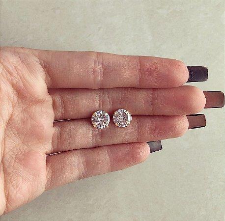 Brinco Grande Blumenau Zircônia Diamond Dourado