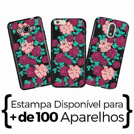 Capinha - Floral - Black