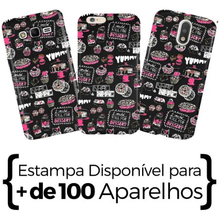 Capinha - Yummy Pattern - Black