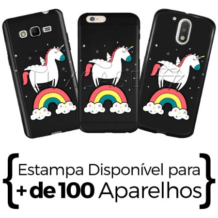 Capinha - Unicórnio Rainbow - Black