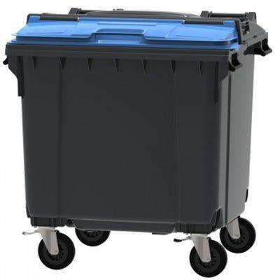 Contentor de Lixo de 1100 Litros Tampa Bipartida (SPLIT) C/ Pedal