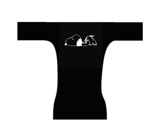 Fralda dia a dia - Snoopy black