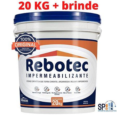 Rebotec Impermeabilizante Balde 20 kg original apenas 489,00 retirar em Interlagos + brinde.