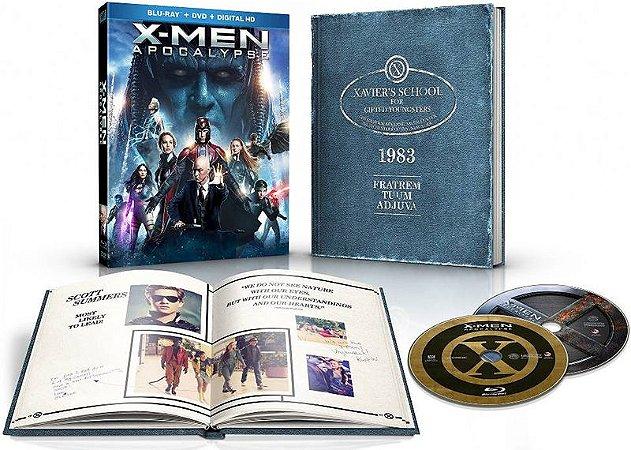 Blu-Ray - X-Men: Apocalypse - Bonus Exclusive 1983 X-Men Yearbook (EMBALAGEM COM DEFEITO LEIA DESCRIÇÃO)