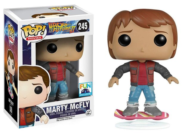 Funko Pop - Back To The Future 2 - Marty McFly On Hoverboard Exclusive - 245