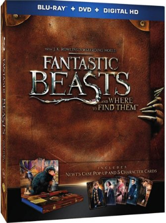 Blu-ray - Animais Fantásticos e Onde Habitam (Target - Newt's Case Pop-Up Presentation + 5-Character Cards)