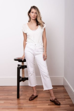 Calça Cropped Branca - 1º Ciclo