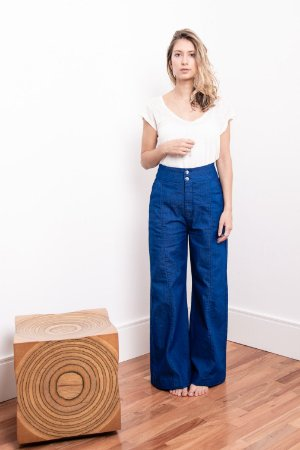 Calça Pantalona Azul Royal - 1º Ciclo