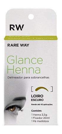 Henna para Design Sobrancelha + Fixador - Loiro Escuro - GLANCE HENNA