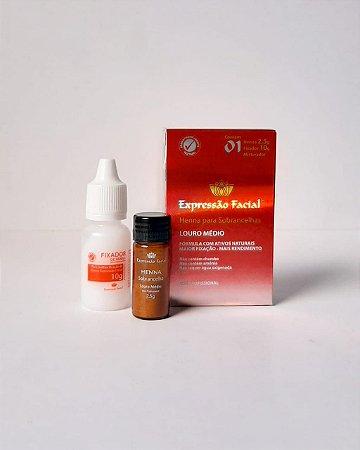 Henna Louro Médio Expressão Facial 2,5G + Fixador 10ML