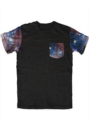 Camiseta - Galaxy - Manga e Bolso