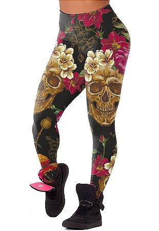 Legging - Skull Flowers - Suplex
