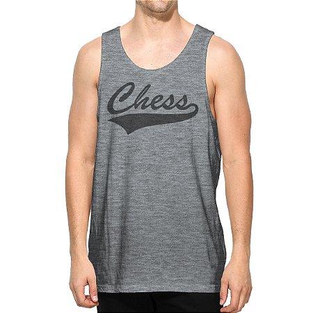 Regata Cinza Logo Chess