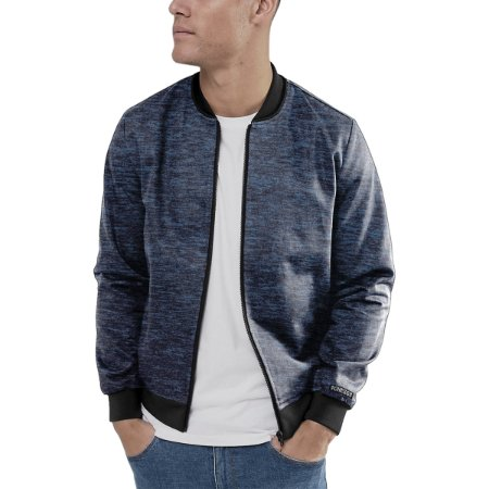 Jaqueta Bomber Chess Clothing Mescla Azul