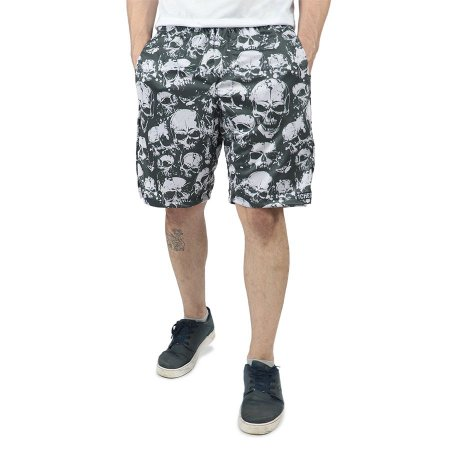 Bermuda Chess Clothing Dri-Fit Skulls Cinza