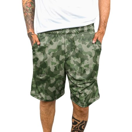 Bermuda Chess Clothing Dri-Fit Camuflada Verde