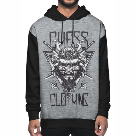 Moletom Chess Clothing Samurai Cinza
