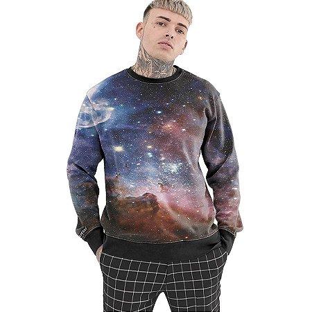 Moletom Careca Chess Clothing Galaxy Roxo
