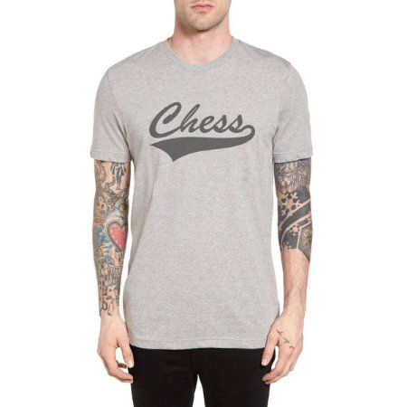 Camiseta Chess Clothing Baseball Cinza