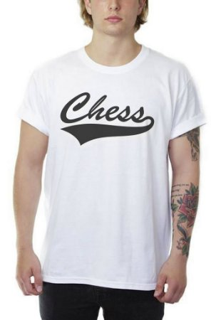 Camiseta Chess Clothing Baseball Branco