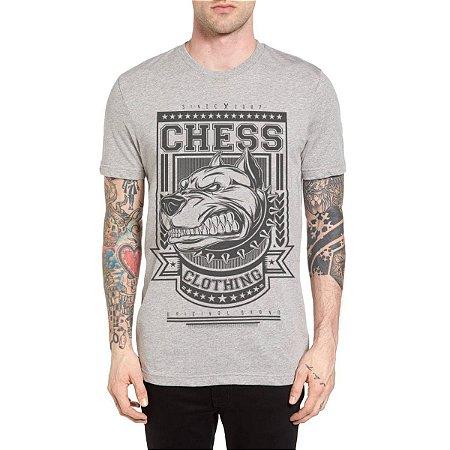 Camiseta Chess Clothing Dog Furious Cinza