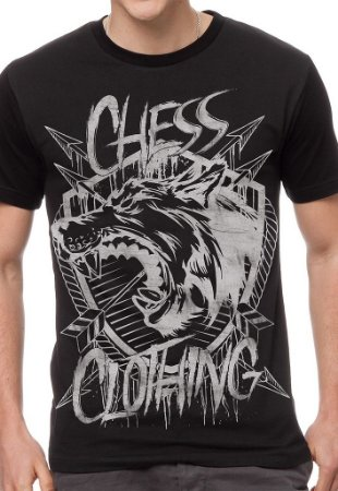 Camiseta Chess Clothing Shield Preta