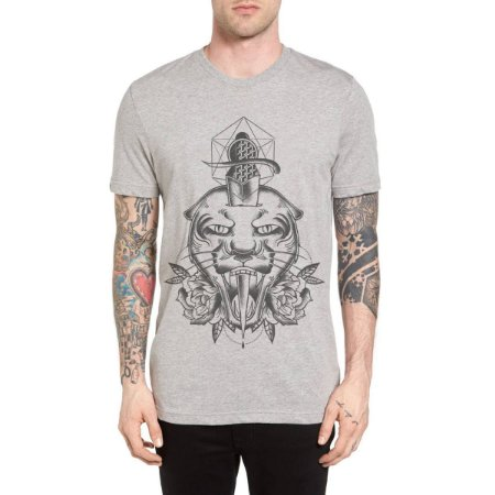 Camiseta Chess Clothing Tigre Cinza