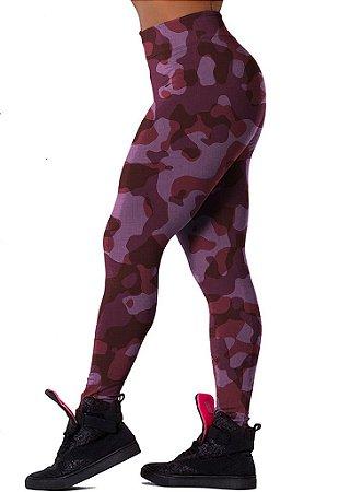 Legging Chess Clothing Camuflada Rosa