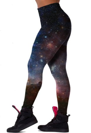 Legging Chess Clothing Galaxy Roxa