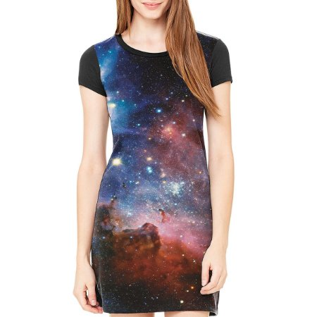 Vestido Chess Clothing Galaxy Preto
