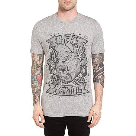 Camiseta Chess Clothing Gorila Cinza