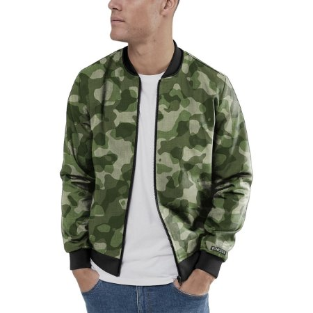 Jaqueta Bomber Chess Clothing Camuflado Verde