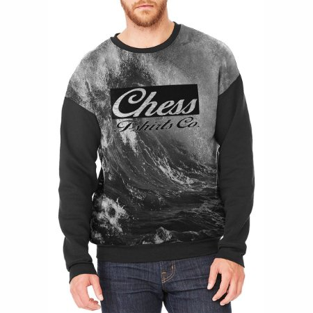 Moletom Careca Chess Clothing Onda Cinza