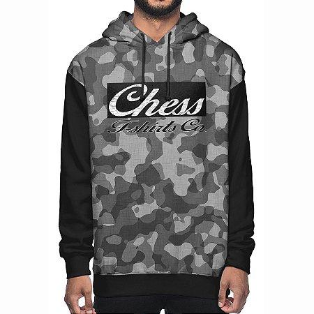 Moletom Chess Clothing Co. Camuflado Cinza