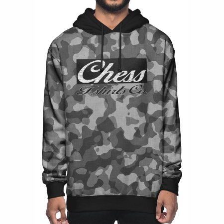 Moletom Chess Clothing Co. Camuflado Cinza