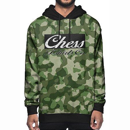 Moletom Chess Clothing Co. Camuflado Verde