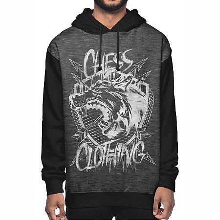 Moletom Chess Clothing Shield Cinza