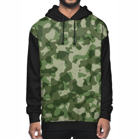 Moletom Chess Clothing Camuflado Verde