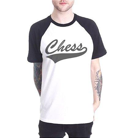 Raglan Chess Clothing Logo Branco