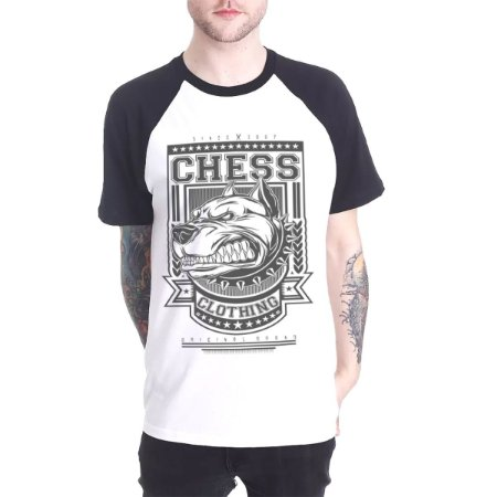 Raglan Chess Clothing Dog Branco