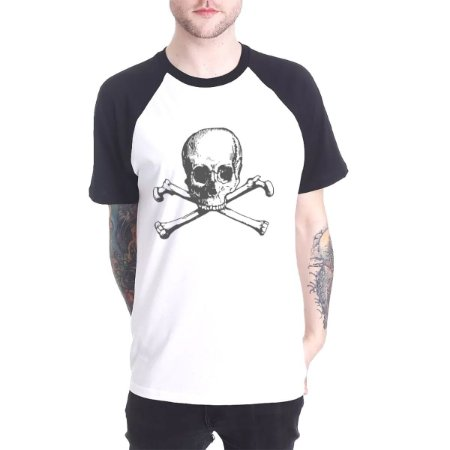 Raglan Chess Clothing Skull Branco
