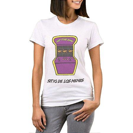 Camiseta Feminina Chess Clothing SDM Fliperama Branca