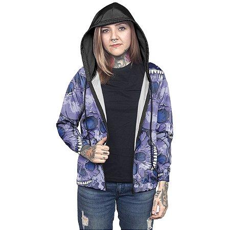 Jaqueta Corta Vento Chess Clothing Feminina Estampada