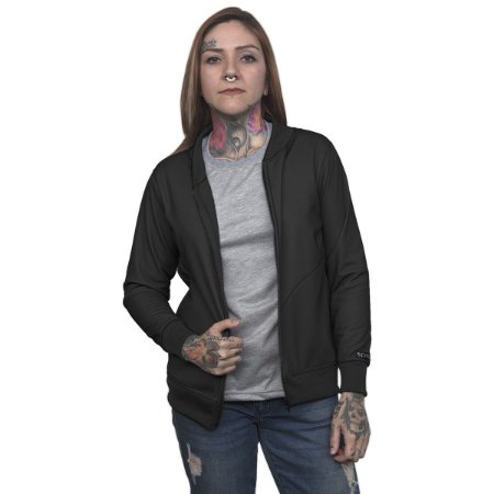 Jaqueta Bomber Chess Clothing Basic Preta