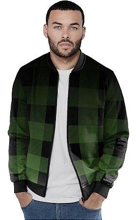 Jaqueta Bomber Chess Clothing Xadrez Verde Grad