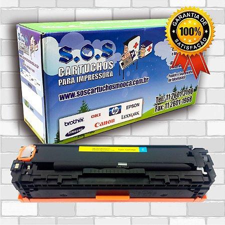 TONER COMPATÍVEL COM HP CF211/CB541/CE321 CIANO (100% NOVO)